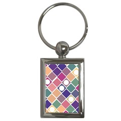 Dots And Squares Key Chains (rectangle)