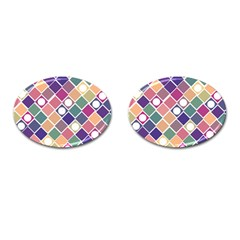 Dots And Squares Cufflinks (oval) by Kathrinlegg