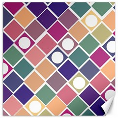 Dots And Squares Canvas 12  X 12   by Kathrinlegg