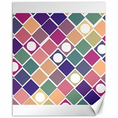 Dots And Squares Canvas 16  X 20   by Kathrinlegg