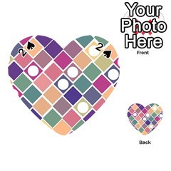 Dots And Squares Playing Cards 54 (heart)  by Kathrinlegg