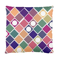 Dots And Squares Standard Cushion Cases (two Sides)  by Kathrinlegg