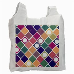 Dots And Squares Recycle Bag (one Side)
