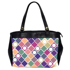 Dots And Squares Office Handbags (2 Sides)  by Kathrinlegg