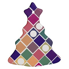 Dots And Squares Christmas Tree Ornament (2 Sides) by Kathrinlegg