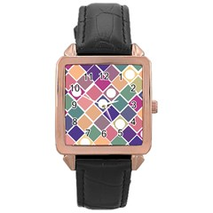 Dots And Squares Rose Gold Watches by Kathrinlegg
