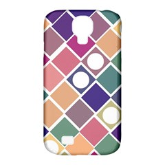 Dots And Squares Samsung Galaxy S4 Classic Hardshell Case (pc+silicone) by Kathrinlegg