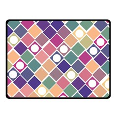 Dots And Squares Double Sided Fleece Blanket (small)  by Kathrinlegg