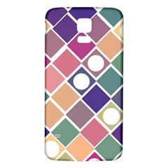 Dots and Squares Samsung Galaxy S5 Back Case (White) by Kathrinlegg