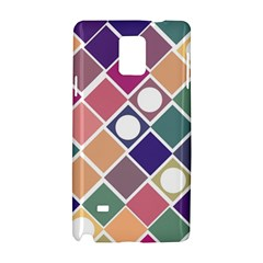 Dots And Squares Samsung Galaxy Note 4 Hardshell Case by Kathrinlegg