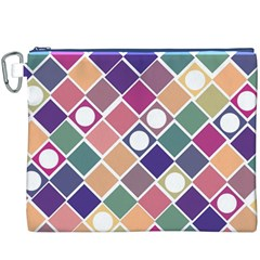 Dots And Squares Canvas Cosmetic Bag (xxxl)  by Kathrinlegg