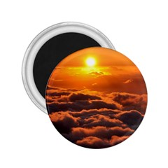 Sunset Over Clouds 2 25  Magnets by trendistuff