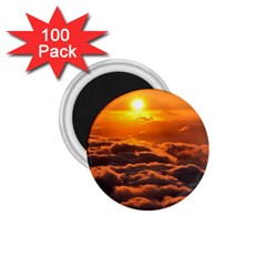 Sunset Over Clouds 1 75  Magnets (100 Pack)  by trendistuff