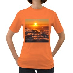 Sunset Over Clouds Women s Dark T Shirt by trendistuff