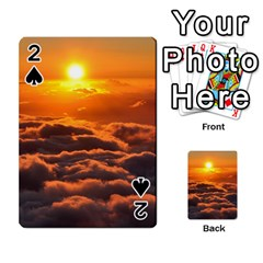 Sunset Over Clouds Playing Cards 54 Designs  by trendistuff
