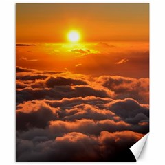 Sunset Over Clouds Canvas 8  X 10  by trendistuff