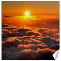 Sunset Over Clouds Canvas 16  X 16   by trendistuff