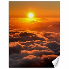 Sunset Over Clouds Canvas 18  X 24   by trendistuff