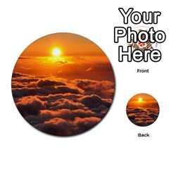 Sunset Over Clouds Multi Purpose Cards (round)