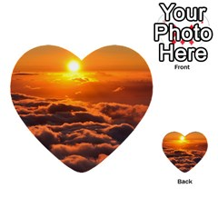 Sunset Over Clouds Multi Purpose Cards (heart)  by trendistuff
