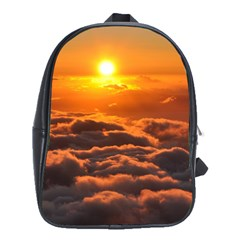 Sunset Over Clouds School Bags(large)  by trendistuff