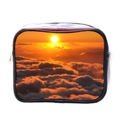 Sunset Over Clouds Mini Toiletries Bags by trendistuff
