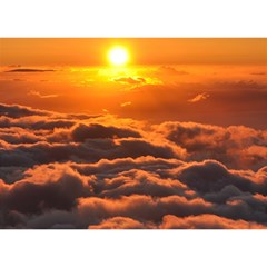 Sunset Over Clouds Birthday Cake 3d Greeting Card (7x5)