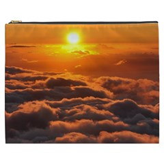 Sunset Over Clouds Cosmetic Bag (xxxl)  by trendistuff