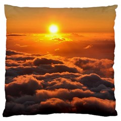 Sunset Over Clouds Large Flano Cushion Cases (two Sides)  by trendistuff