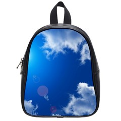 Sun Sky And Clouds School Bags (small)  by trendistuff