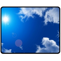 Sun Sky And Clouds Fleece Blanket (medium)  by trendistuff