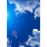 SUN SKY AND CLOUDS Ribbon 3D Greeting Card (7x5)  Inside