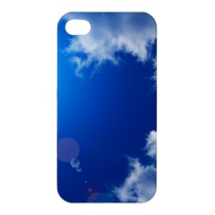 Sun Sky And Clouds Apple Iphone 4/4s Premium Hardshell Case by trendistuff