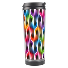 Rainbow Psychedelic Waves Travel Tumbler by KirstenStar