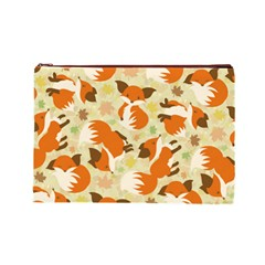 Curious Maple Fox Cosmetic Bag (large) by Ellador