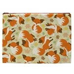 Curious Maple Fox Cosmetic Bag (XXL)