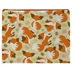 Curious Maple Fox Cosmetic Bag (XXXL)