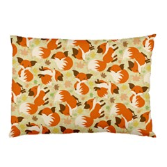 Curious Maple Fox Pillow Case (two Sides) by Ellador
