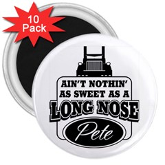 Pete 3  Button Magnet (10 Pack) by allthingseveryday