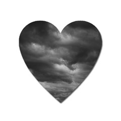 Storm Clouds 1 Heart Magnet by trendistuff