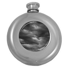 Storm Clouds 1 Round Hip Flask (5 Oz) by trendistuff