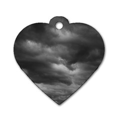 Storm Clouds 1 Dog Tag Heart (one Side) by trendistuff
