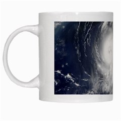 Hurricane Irene White Mugs by trendistuff