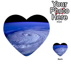 Hurricane Elena Multi Purpose Cards (heart)  by trendistuff