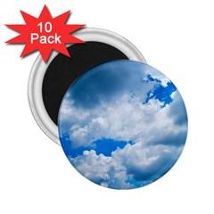 Cumulus Clouds 2 25  Magnets (10 Pack)  by trendistuff
