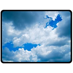 Cumulus Clouds Double Sided Fleece Blanket (large)  by trendistuff