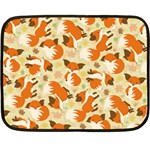 Curious Maple Fox Mini Fleece Blanket (Two Sided)