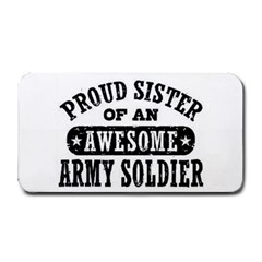 Proud Army Soldier Sister Medium Bar Mats by allthingseveryday