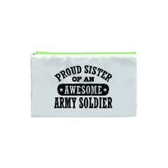 Proud Army Soldier Sister Cosmetic Bag (xs) by allthingseveryday