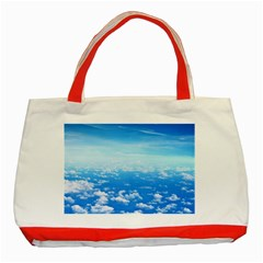 Clouds Classic Tote Bag (red)  by trendistuff